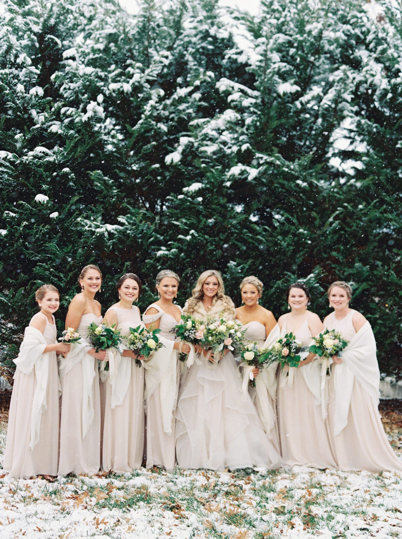 KimStockwellAshleyandMattMoraisVIneyardWedding307 Winter Weddings - A Snow Fairy Tale